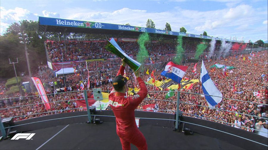Charles Leclerc, gran ganador en el Gran Premio de Italia