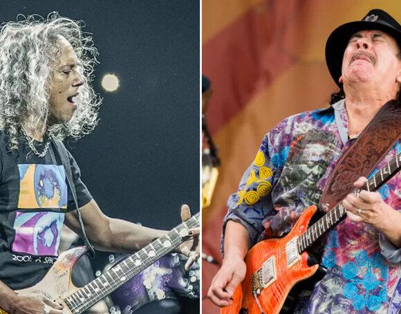 Kirk-Hammett-and-Carlos-Santana