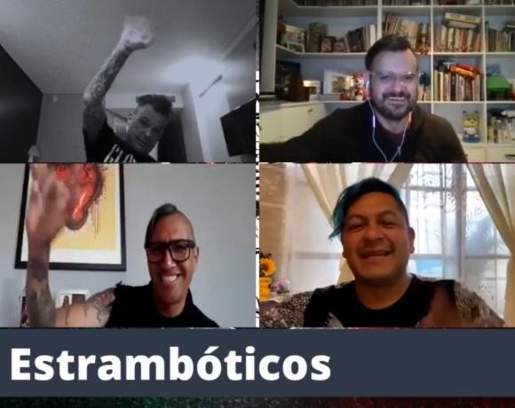 Vampiro entrevistando a Los Estrambóticos